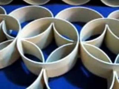 Painel de Parede com tubos de PVC