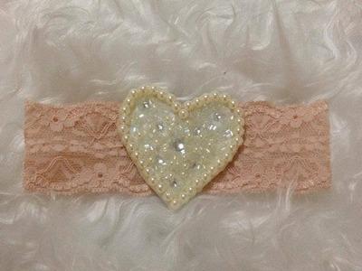 PAP - Tiara Coração de pérolas (DIY)