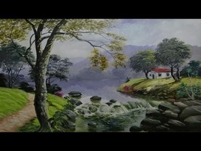 Primeira parte de uma vídeo aula de paisagem