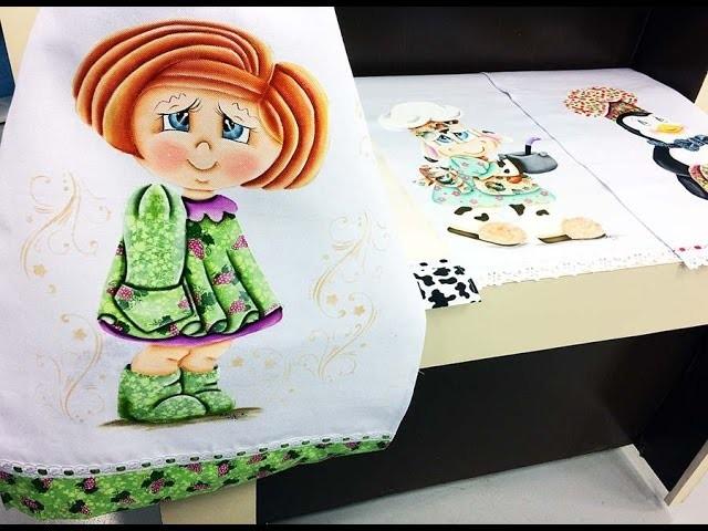 Programa Arte Brasil - 03.04.2015 - Adriana Vit - Pintura e Patch Aplique em Pano de Copa