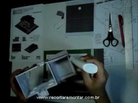 Recortar e Montar Papercraft - Miniatura HS001 - Video 3 - Montando a base.wmv
