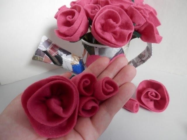 Rosa de feltro 4