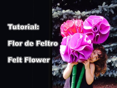 Tutorial: Flor de Feltro - Felt Flower