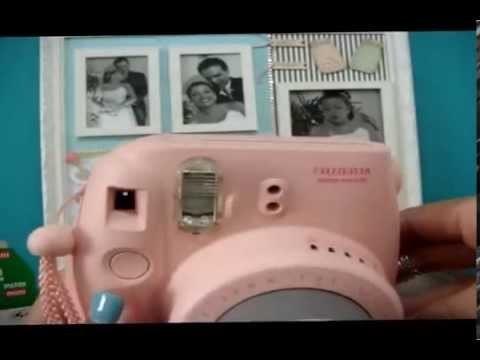 Usando minha câmera instax mini 8 Fujifilm Scrapbook