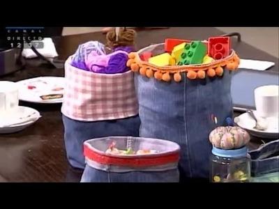 Fazer saquinhos a partir de calças de ganga - Costura com Riera Alta