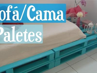 DIY Sofá Cama de Paletes