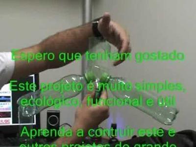 Artesanato com garrafas pet cabide - hanger pet plastic bottles - fazer ecologia