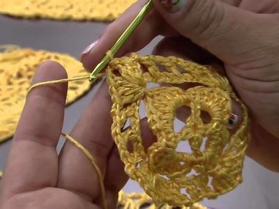Mulher.com 24.11.2014 - Blusa Amarela Croche de Grampo por Eliete Massi - Parte 2
