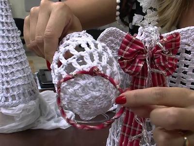 Mulher.com 18.11.2014 - Anjo Natal Croche Endurecido por Carmem Freire - Parte 2