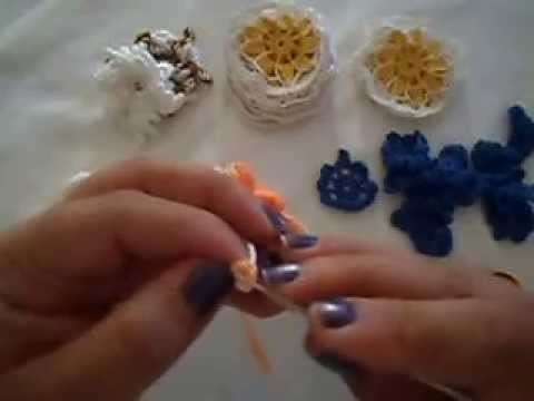Como fazer uma flor em croché- parte 4