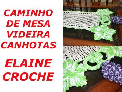 CROCHE PARA CANHOTOS - LEFT HANDED CROCHET - CAMINHO DE MESA VIDEIRA CANHOTAS