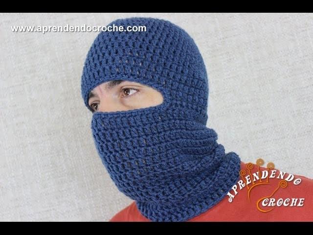 Touca Crochê Balaclava Motoqueiro - Aprendendo Croche