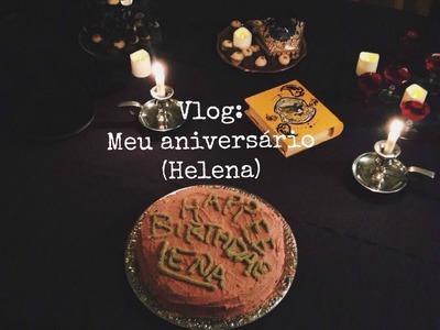 Vlog: Meu aniversário (Helena), decoração, bolo do Hagrid.