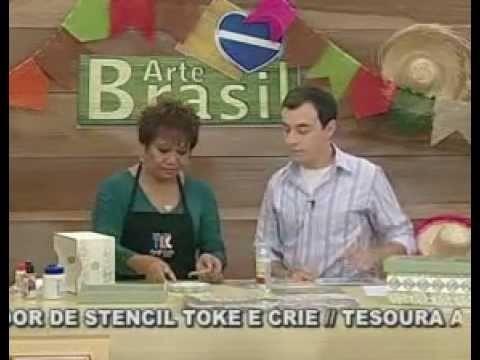 ARTE BRASIL - MAMIKO YAMASHITA - DÉCOUPAGE COM CARIMBO (16.06.2011 - Parte 1 de 2)