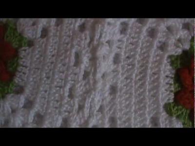 Barra de crochê em toalhas