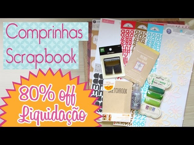 Comprinhas Scrapbook Liquidação- Scrapbook by Tamy