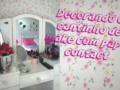 D.I.Y: Decorando a parede do quarto com papel contact