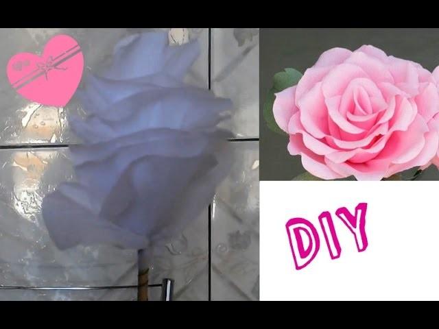 DIY rosa de papel crepom Gastando menos de R$1,00(lembrancinhas, enfeites,Muito real!!!)
