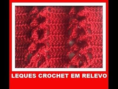 Leques em relevo crochet