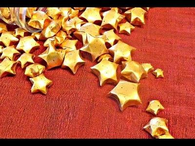 Magnetic Paper Star Throwies. Estrelinhas Magnéticas.