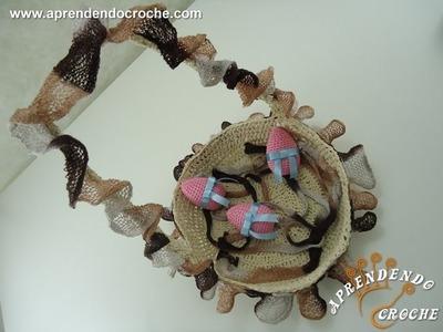 Cesta de Páscoa em Croche Delícias - Crochê Endurecido - 1º Parte