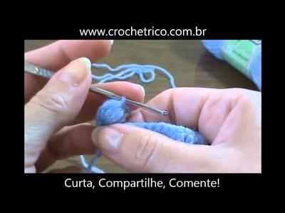 Crochê  para Canhotas - Guia de Pontos - Aula 34 - Pineapple Stitch