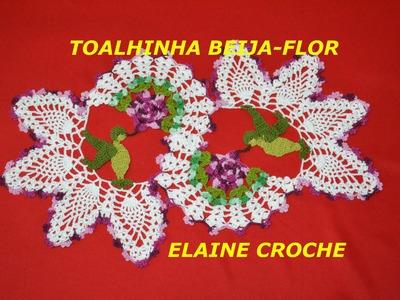 CROCHE PARA CANHOTOS - LEFT HANDED CROCHET - TOALHINHA BEIJA-FLOR 1ª PARTE - CANHOTAS