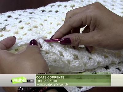 Mulher.com - 10.08.2015 - Blusa quadrados em crochê - Noemi Fonseca PT2