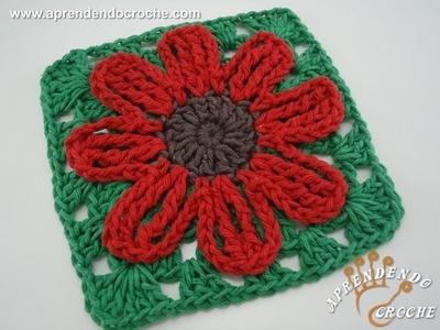 Flor de Croche Silvestre - Aprendendo Crochê
