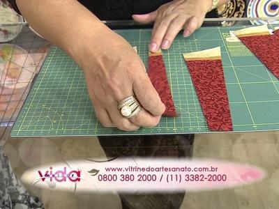 Aprenda a fazer uma linda toalha de mesa redonda em patchwork!