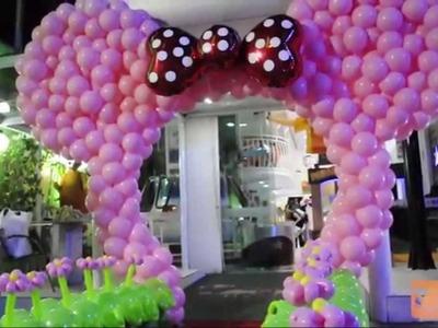 Arco da Minnie de Balões