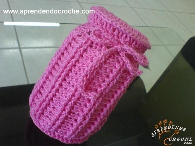 Capa para Pote em Croche - 1º Parte - Aprendendo Crochê
