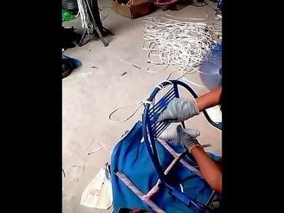 Como enrrolar cadeiras de macarrao ou seja spaghetti de pvc