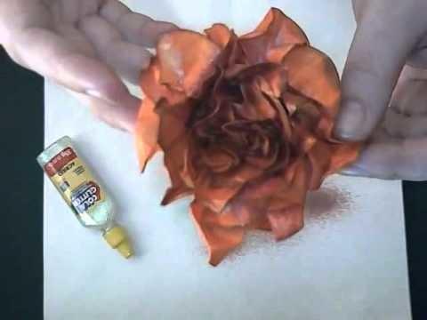 Como fazer flor de papel coração - Heart paper flower