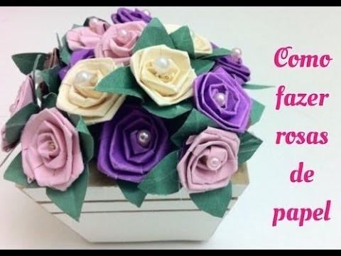 Como fazer rosas de papel. How to Paper rose