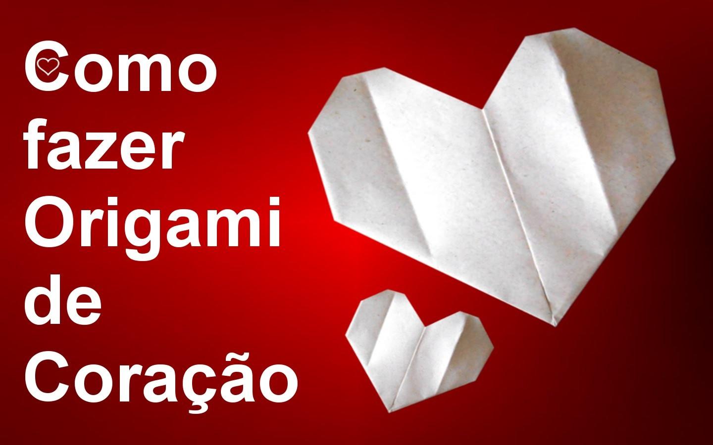Como fazer um origami de coração.