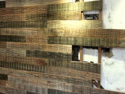 Como fazer um painel para sua sala com madeira de obra.