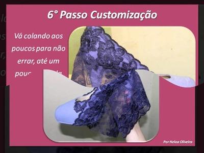 Customização de Sapato - Renda