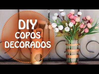 DIY | Faça você mesmo - Como fazer copos decorados (tutorial)