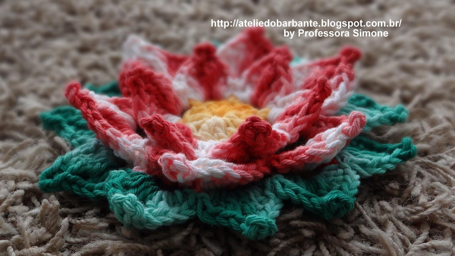 Flor Natalina em Crochê Parte-1
