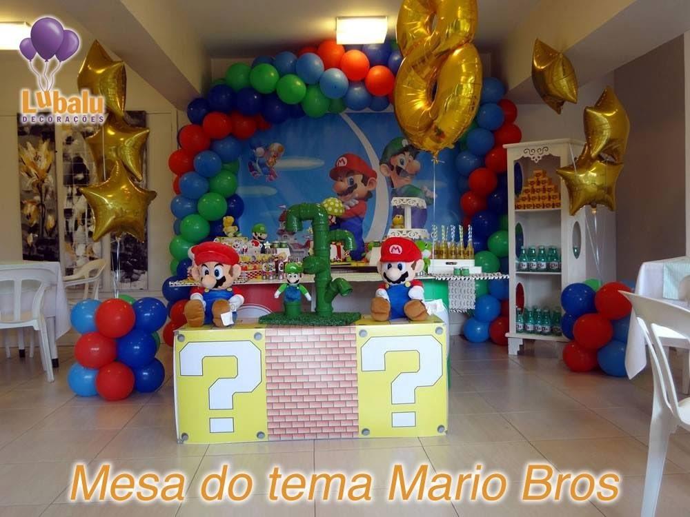 Mesa decorativa Tema Mario Bros