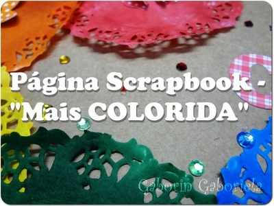 Página Scrapbook - Mais Colorida
