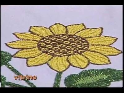 Pano de copa Girassol em Bordados Mexicano com Valquíria Campanelli -Vitrine do Artesanato na TV