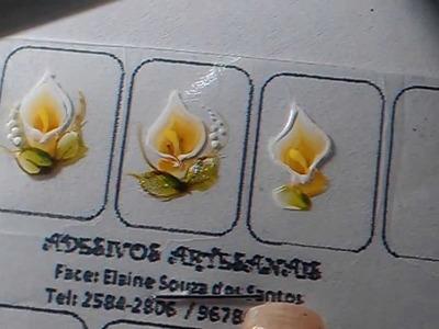 Passo a passo de flor em Carga Dupla(Copo de Leite)