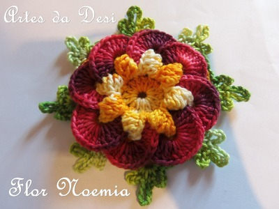 Passo a Passo Flor Noemia - Crochê - Desi Winters