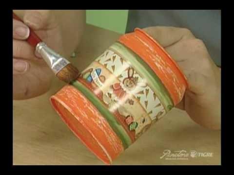 Passo a Passo Pintura em Metal  Latinha para chocolate Pinctore Tigre