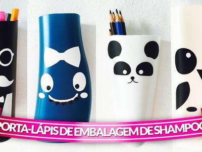 Reciclar embalagem de shampoo: Porta Lápis {DIY}