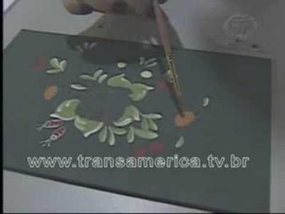 Tv Transamérica - Artesanato caixa com pintura Bauer
