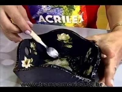 Tv Transamérica - Decoupage Craquelê Vitrificação - Parte2