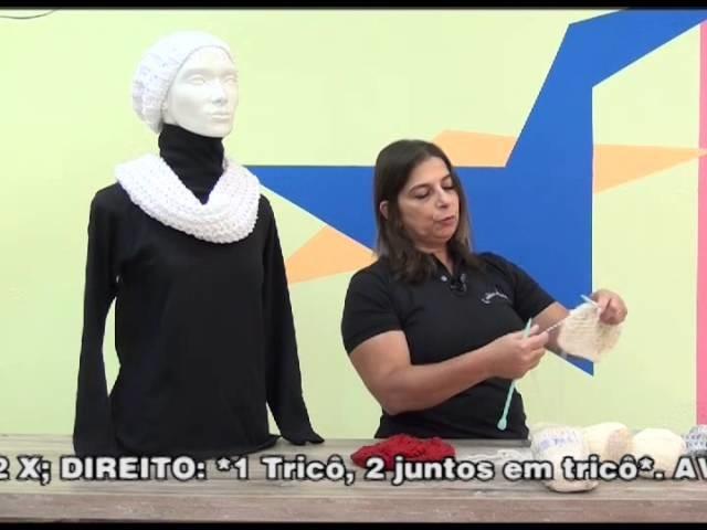 Gorro e Gola Angela em trico com Cisne Aya + Cisne Premium em 10 06 15